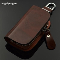 Gift For Man Women Key Case For Car Auto Leather Key Wallet Ring Chains For Hyundai