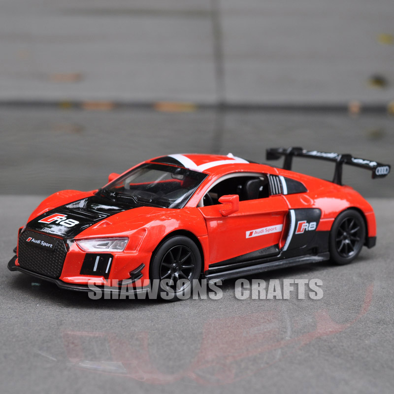 1:30 DIECAST METAL MODEL CAR TOYS AUDI R8 LMS SPORT CAR REPLICA SOUND LIGHTS-in Diecasts & Toy ...