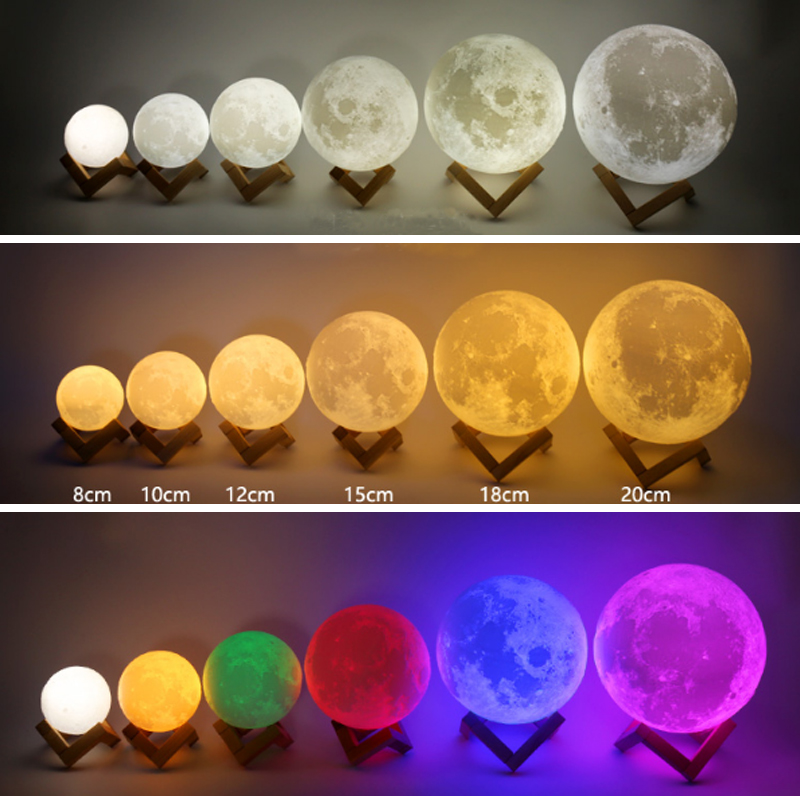 Colorful Moon Lamp 5