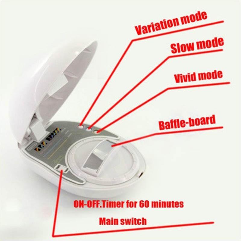 Суини партии проектор мини светодиодный радуга проектор рождественский подарок романтический радуга проектор лазер свет лампы
