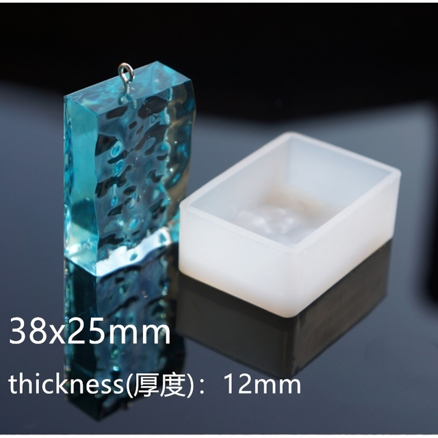 SNASAN eau ondulation pendentif Silicone moule résine Silicone moule à la main bijoux à bricoler soi-même faisant des moules en résine époxy