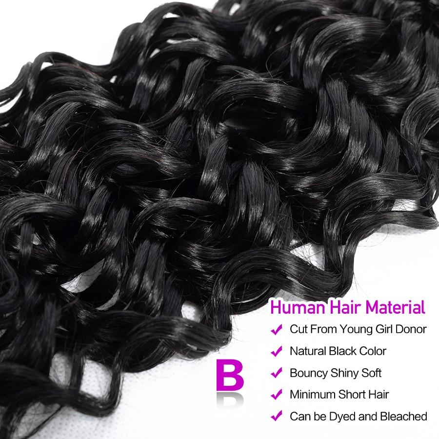 HTB1 quFEVuWBuNjSszbq6AS7FXae Hermosa Water Wave Bundles With Closure Brazilian Hair Bundles With Closure Non-Remy Hair 3 Bundles With Closure Middle Ratio