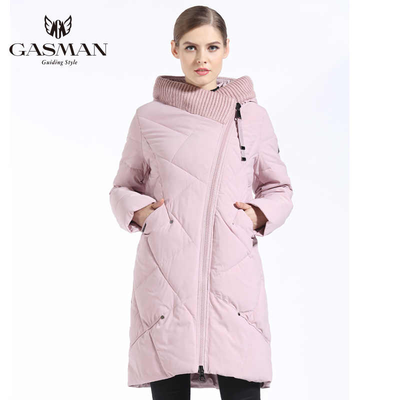 GASMAN 2019 Down Jacket Female Women Parka Medium-Long with a hood Winter Coat for Women Large Size 5XL 6XL