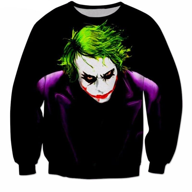 2017 NEW FASHION MEN WOMEN The devil clown Sweat shirts Pullovers Autumn Tracksuit Streetwear Winter Loose Thin Hoody Top