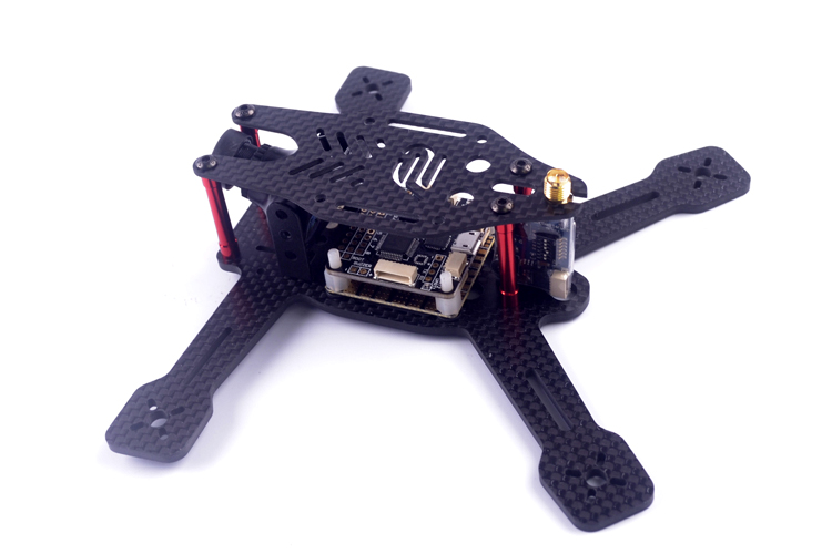 DIY FPV mini quad indoor racing drone Alien 130mm 160mm quadcopter pure carbon fiber frame unassembled drone kit drone with camera rc plane qav 250 carbon frame f3 flight controller emax rs2205 2300kv motor fiber mini quadcopter