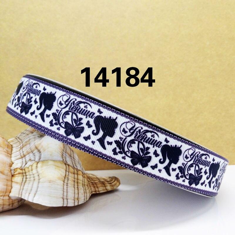 Бесплатная доставка 2016 новое поступление ленты аксессуары для волос лента 10 ярдов Печатный корсаж ленты 14184
