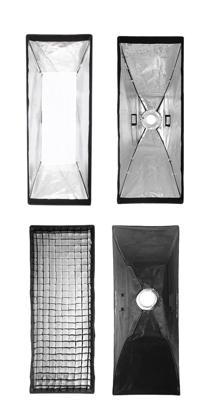 50x130cm Softbox Reflector+Bowens Mount with Gird for Speedlite Flash Photo Studio Soft Box Photography Accesorios Fotografia 50x130cm softbox reflector with bowens mount for studio flash photo studio soft box photography accesorios fotografia light box
