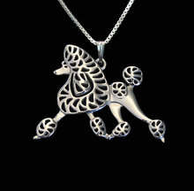 Ожерелье в виде пуделя ручной работы резной полый аксессуар
