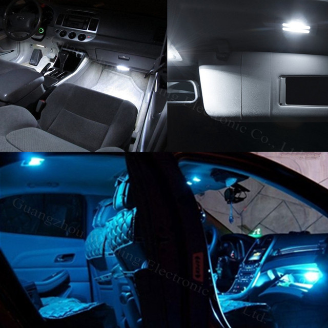 wljh 11x led light lamp dome interior bulb car interior lighting kit for vw golf 6 vi gti mk6. Black Bedroom Furniture Sets. Home Design Ideas