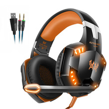 цена на EACH Stereo Gaming Headset Casque Deep Bass Game Headphone with Microphone LED Light for PS4 Laptop PC Gamer Game Headphones