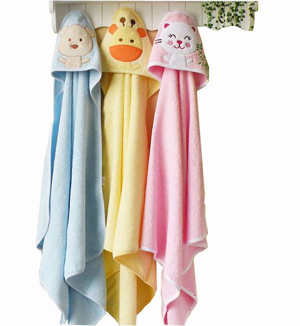 Nuevos Diseños Con Capucha Albornoz Bebé recién nacido Bebé de la Historieta Carácter niños albornoz Toalla de baño toallas de baño infantiles mantas de bebé