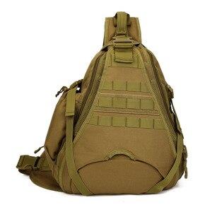 Image 3 - Erkekler 1000D naylon Sling göğüs çanta su şişesi gün geri paketi çapraz vücut Messenger omuz paketi askeri seyahat sürme yeni