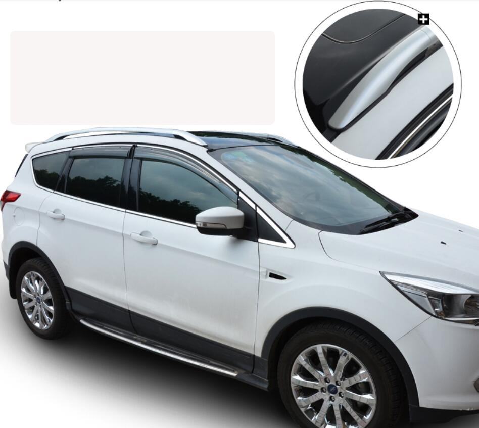 Car roof racks luggage rack for ford kuga 2013 2014 2015 high quality brand new aluminium auto accessories in cargo management from automobiles