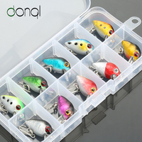 DONQL 10/8pcs Crank Fishing lure Set Minnow Bait Kit High Quality Minnow Fishing Lures With Box Treble Hook Fishing Tackle|Fishing Lures| |  -