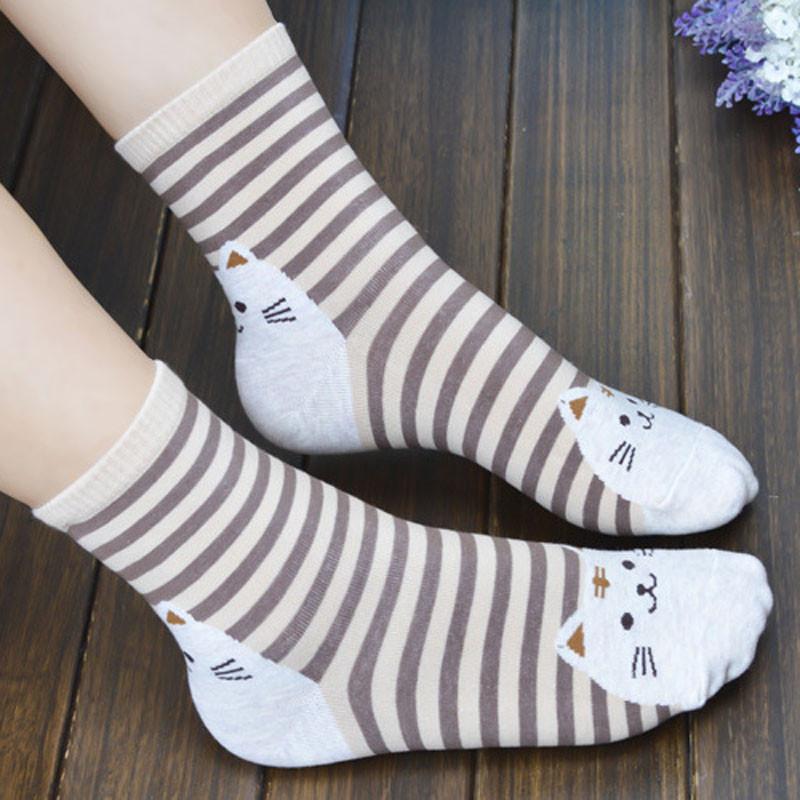 Cute Socks With Cartoon Cat For Cat Lovers Cute Socks With Cartoon Cat For Cat Lovers HTB1 qvSQVXXXXasapXXq6xXFXXXI