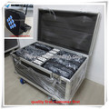 (6lot/CASE)Dj disco equipment par led flat 9x15w rgbwa 5in1 battery wireless dmx led par light wireless uplighting flight case