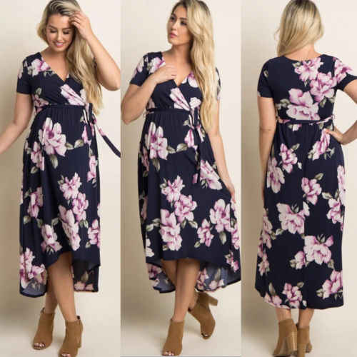 1b29346ef16 ... New Style Pregnant Women Floral Long Maxi Dresses Maternity Gown  Photography Photo Shoot Clothes Pregnancy Summer ...