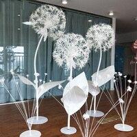 Большой DIY Искусственные бумажные цветы Одуванчик поддельные цветы Свадебные украшения окна украшения Свадьба дорога фон макет
