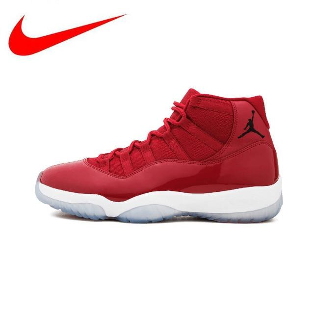 e53ea42f174e2 US $152.49 49% OFF|Original Nike Air Jordan 11 Retro Win Like 96 Men's  Sneakers Basketball Shoes,Original New Arrival Men Sports AJ11 Outdoor  Shoes-in ...