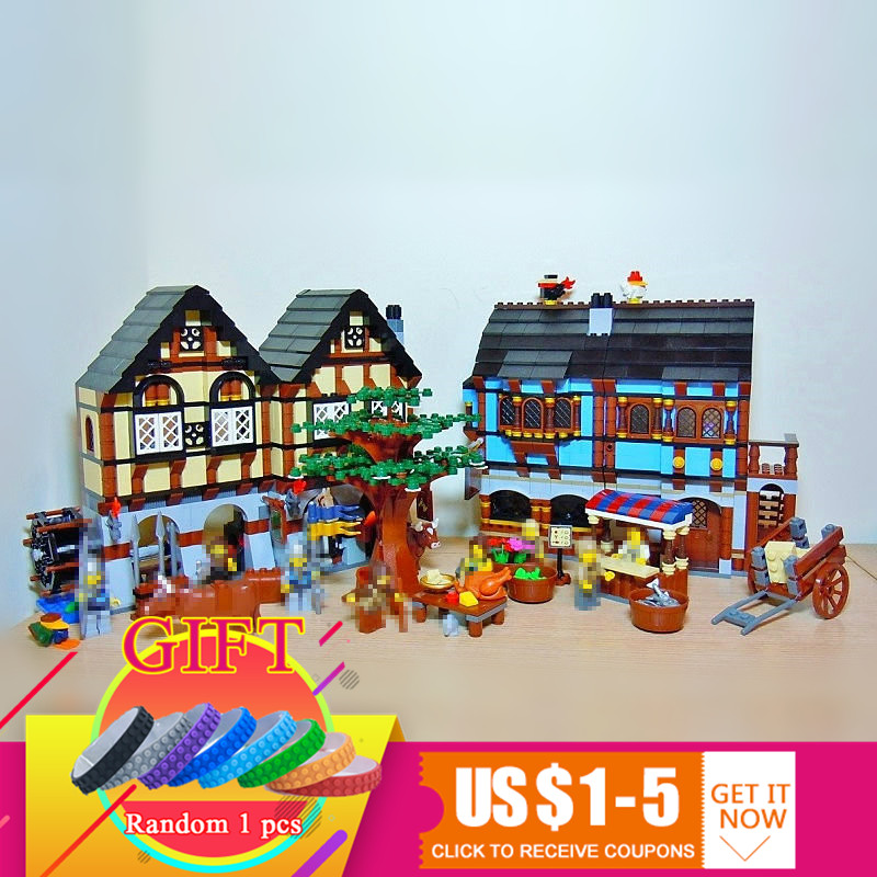 16011 1601Pcs The Medieval Manor Castle Set Compatible with 10193 Educational Building Blocks Model Gift toys