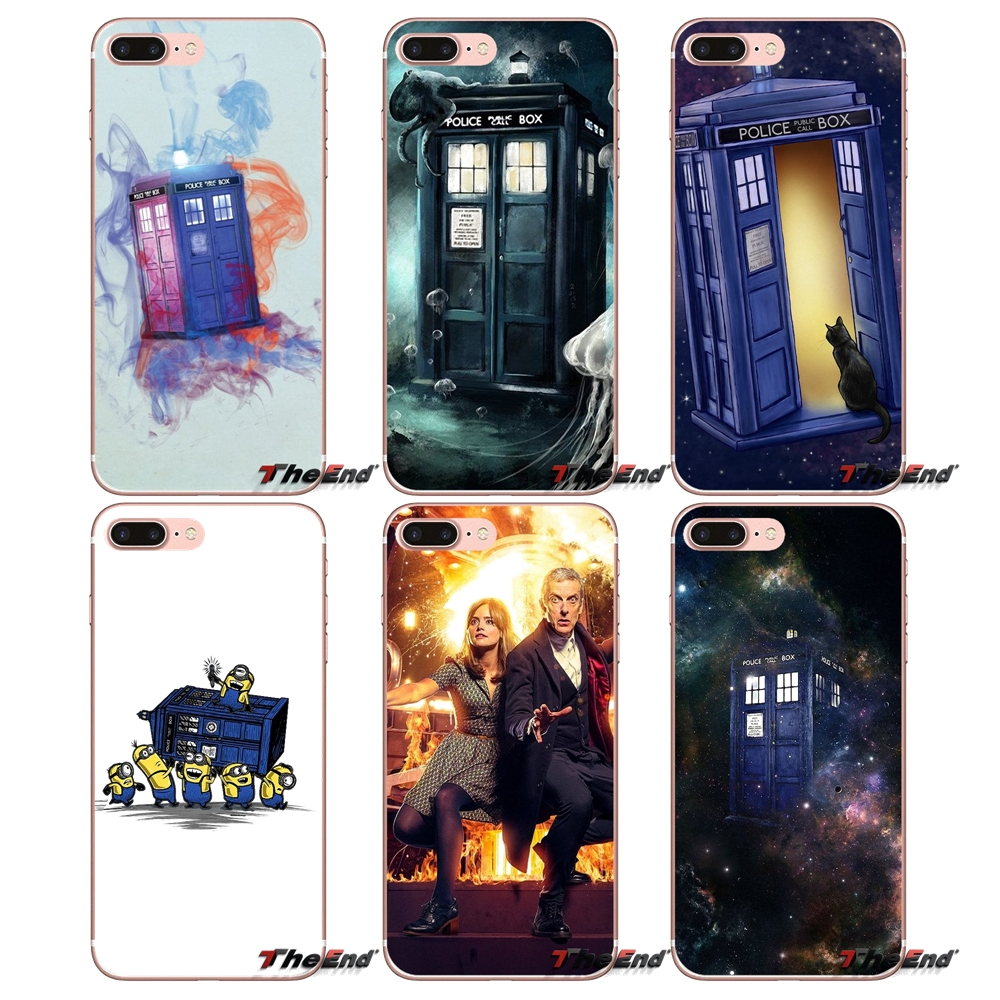 Blue Police Box Doctor Who Soft Phone Case For Huawei Honor 4c 5c 5x 6x V10 Y5 Y6 Y7 Ii Mate 8 9 10 P8 P9 P10 Lite Plus 2017 Half-wrapped Case