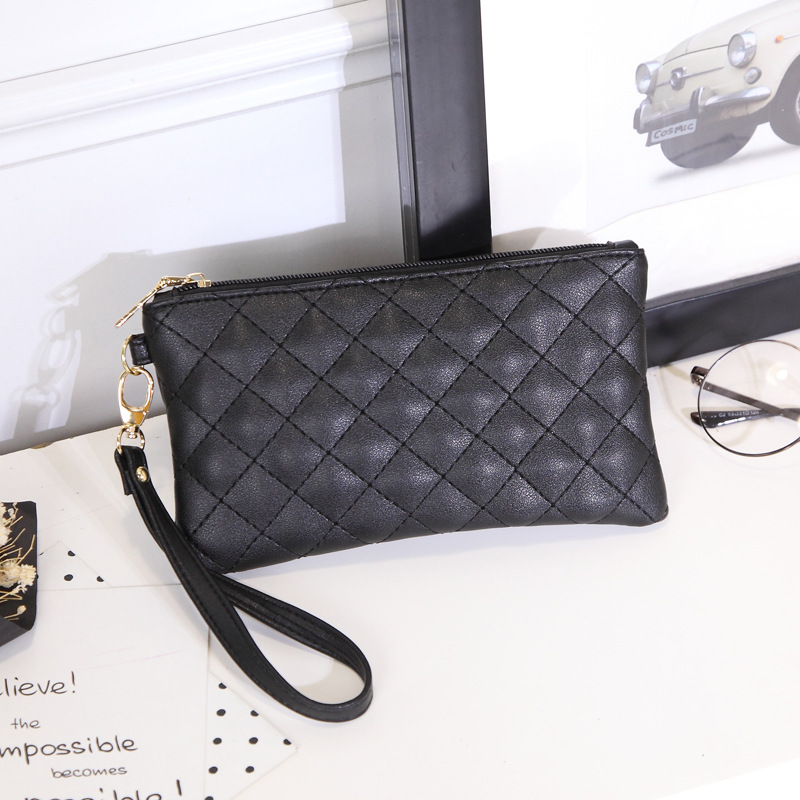 ladies boutique zipper wallet fashion European and American style pattern student thin change mobile phone bag pouch 0708