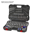 WORKPRO 164 PC Werkzeug Set für Auto Reparatur Werkzeuge Mechaniker Werkzeug Buchse Set Wrench Ratsche Spanner Set