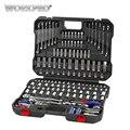 WORKPRO 164 PC herramienta para reparación del coche herramientas mecánico herramienta hembra conjunto de Llave de trinquete de