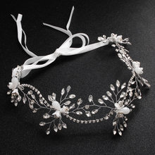 Bride Crystal Hair Band Wedding Jewelry Headband Head Ornaments Head Piece(China)