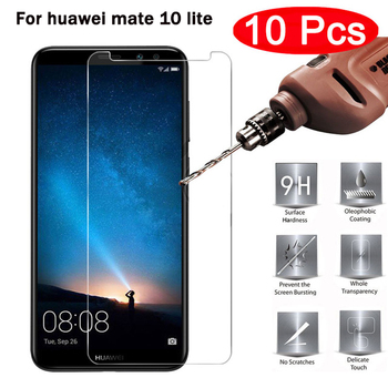 10PCS Glass Huawei Mate 10 Lite Screen Protector Tempered Glass For Huawei Mate 10 Lite Glass Anti-scratch Film Huawei MaiMang 6