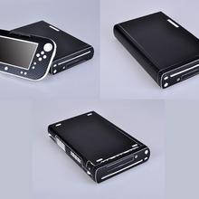 Black Carbon Fiber Vinyl Skin Sticker Protector for Nintendo Wii U and controller skins Stickers