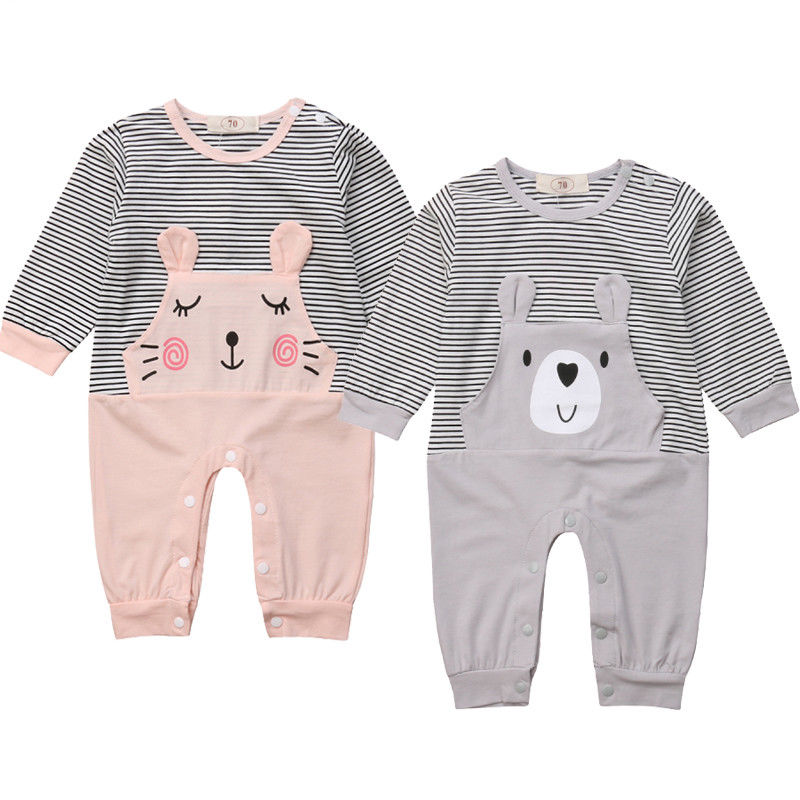 Rainbow Unicorn Infant Boys Girls Jumpsuit Short-Sleeve Romper Bodysuits