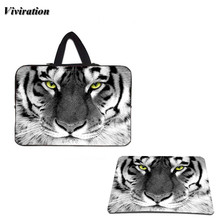 2017 Most Popular Tiger Face Design 14.1 11.6 17 15 14 10.1 13 12 10 15.6 13.3 Inch Neoprene Laptop Bags & Gaming Mouse Pad Mat