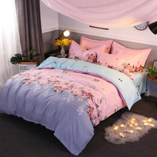 Printing Bedding set twin full king size 3/4pcs Home Textile Quilt Cover/sheet/Pillow case Multicolor optional Duvet Cover set(China)