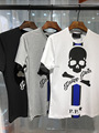 New Arrival 2017 Top Quality Men PP Brand Skull Shirts Luxury Brand Clothing Short Sleeve Hip Hop Tops Tee men t-shirt Asia Size