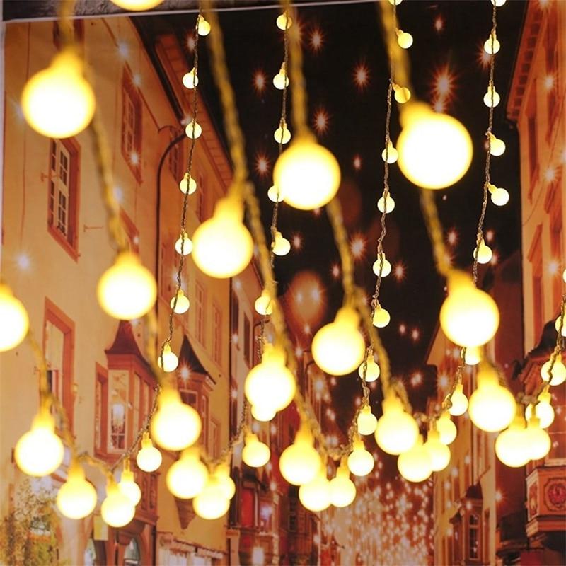 String Lights Wedding Decoration Rgb LED Holiday 110V/220V EU US 10M 100LEDs LED Ball Indoor Outdoor Christmas Decoration