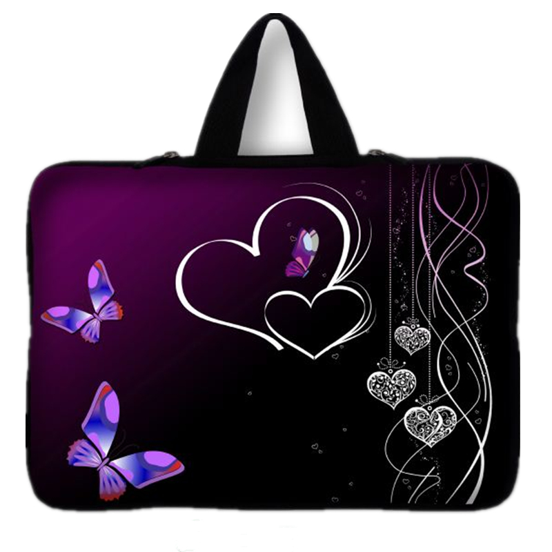 7 10 12 13 15 17 Butterfly Neoprene Laptop Bag Tablet Sleeve Pouch Bag For Notebook 13.3 15.4 15.6 17.3 For Macbook Air / Pro #D