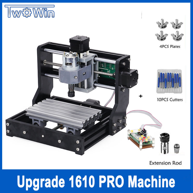 CNC 1610 Pro 3 Axis pcb Milling machine,GRBL control Diy mini cnc machine,Wood Router laser engraving,with offline controller disassembled pack mini cnc 2418 pro cnc machine pcb milling machine with grbl control l10005