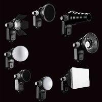 SETTO 9 In1 Flash Accessories Barndoor Snoot Softbox Honeycomb Beauty Disc Diffuser Mount For Speedlite Speedlight