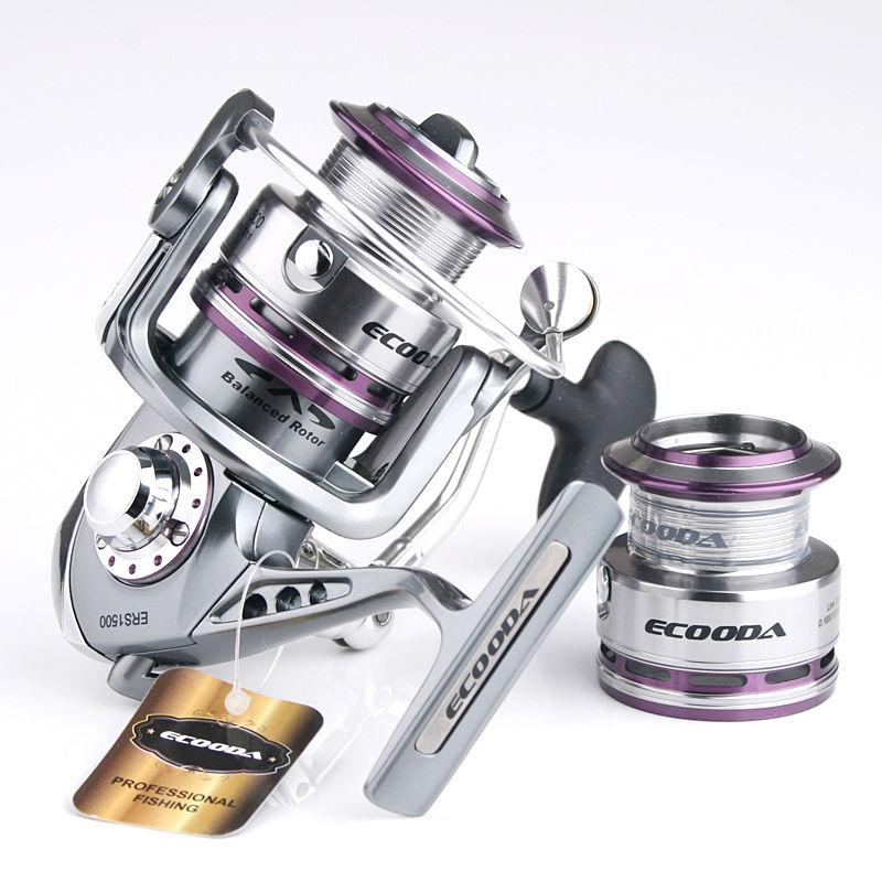 Ecooda royal sea super smooth metal lure fishing reel with spare spool ERS 1500 2000 2500 3000