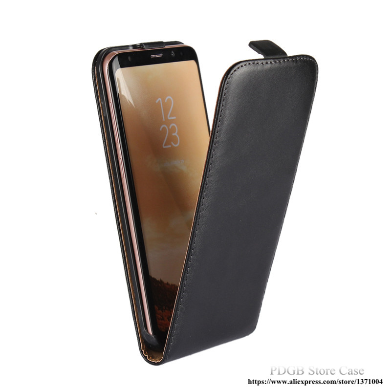 Luxury Pouch Vertical <font><b>Flip</b></font> Phone Cover Genuine <font><b>Leather</b></font> <font><b>Case</b></font> For <font><b>Samsung</b></font> Galaxy S3 Duos S4 S5 mini S6 S7 Edge S8 Plus <font><b>S9</b></font> Plus image