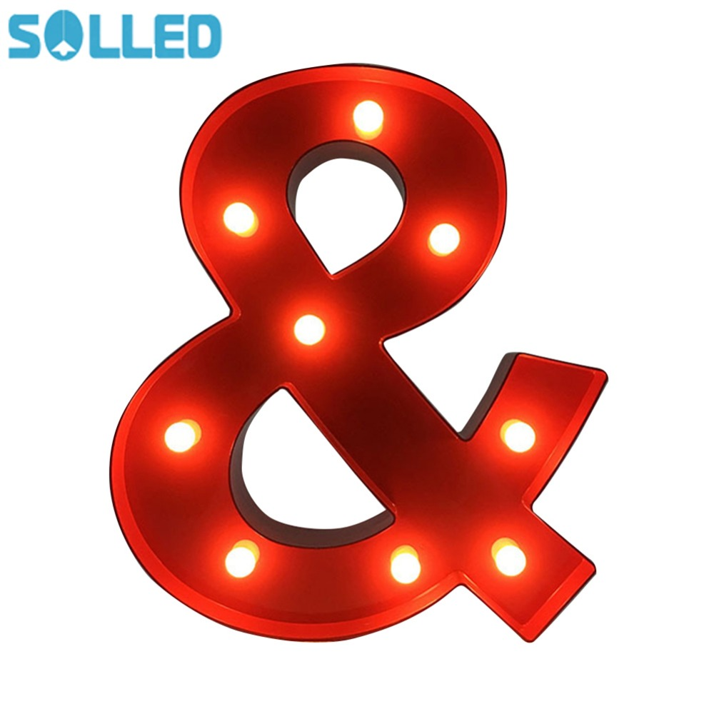 SOLLED LED Letter Light Vintage Circus Style Alphabet Light Up Sign & Night Light for Kids Children Christmas Gifts best price led night light lamp kids marquee letter light vintage alphabet circus style light up christmas lamp white 12inch