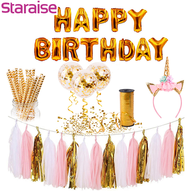 Staraise Happy <font><b>Birthday</b></font> Balloons <font><b>30</b></font> 40 50 60 Anniversary <font><b>Birthday</b></font> Banner Balloons <font><b>Birthday</b></font> Party <font><b>Decor</b></font> Adult Party Supplies image