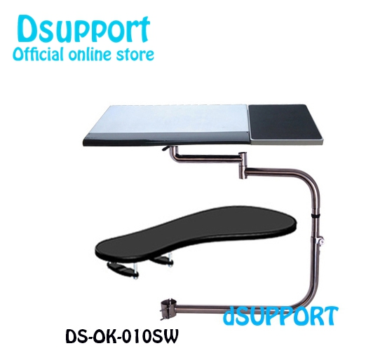 OK010S Multifunctional Full Motion Chair Clamping Keyboard/Laptop Desk Holder+ Square Mouse Pad +Chair Arm Clamping Mouse Pad ok 110 full motion desk edge table side chair leg clamping mouse pad keyboard tray holder laptop desk notebook stand