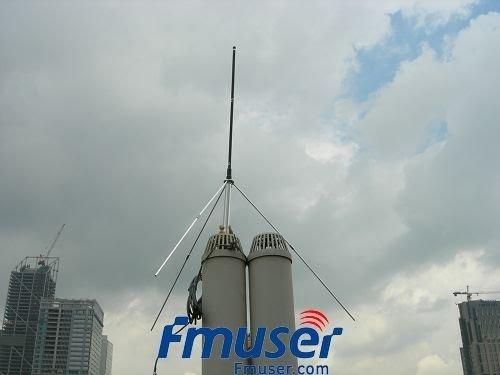 1/4 волны Профессиональный GP Антенна для 5 Вт, 7 Вт, 15 Вт, 30 Вт, 50 Вт, 100 Вт Fm-передатчик BNC или НЬЮ-ДЖЕРСИ с 8 meters 26ft. кабель