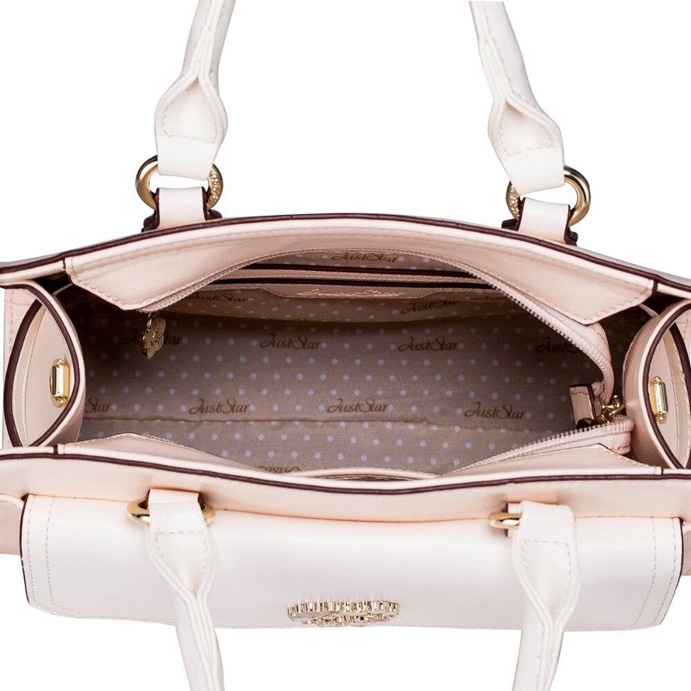 JUST STAR Women's PU Leather Handbag Ladies Fashion Embroidery Flower Tote Shoulder Purse Female Trunk Messenger Bags JZ4016
