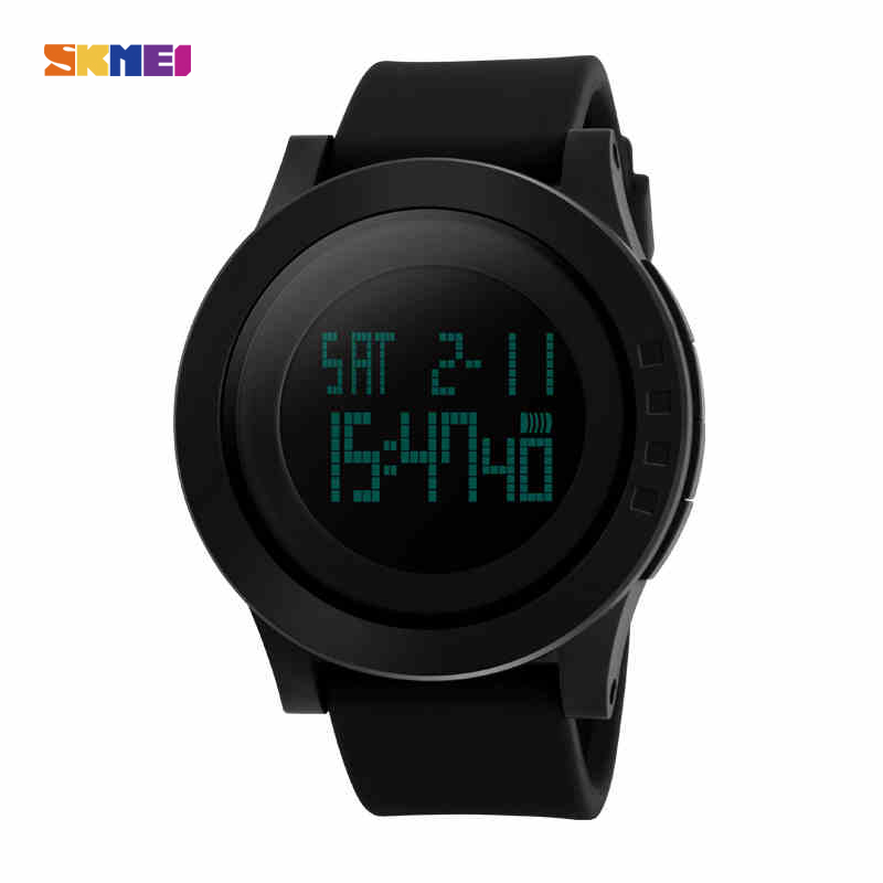 SKMEI Large Dial Outdoor font b Men b font Sports Watches LED Digital Wristwatches Waterproof Alarm