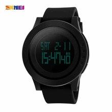 SKMEI Hombres Deportes Relojes LED Digital Relojes de Pulsera Dial Grande Al Aire Libre A Prueba de agua Alarma Cronógrafo Calendario Moda Reloj Ocasional 1142