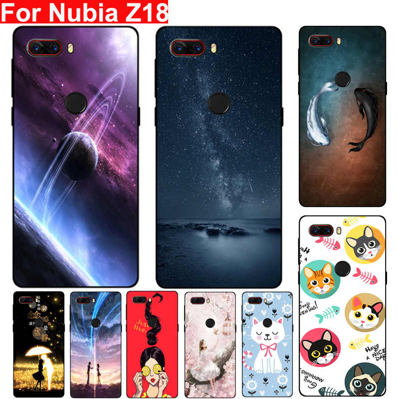 "6.0"" For Nubia Z18 case Starry sky Anti-knock Soft TPU Phone Case For Nubia Z18 Z 18 NX606J silicon Back Cover protection Shell"