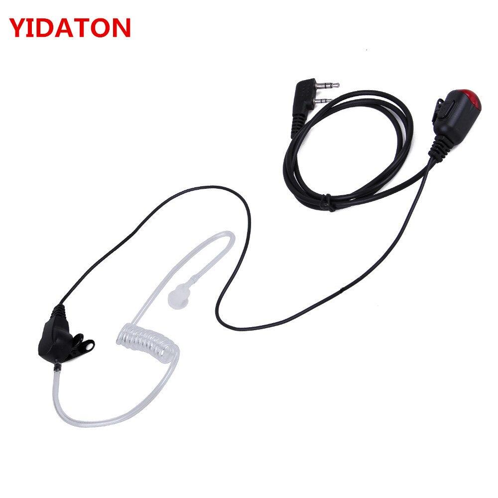 for Baofeng uv-5r Kenwood Radio New 2 PIN Mic PTT Covert Acoustic Tube In-ear Earpiece 888s Walkie Talkie Earphone Headset